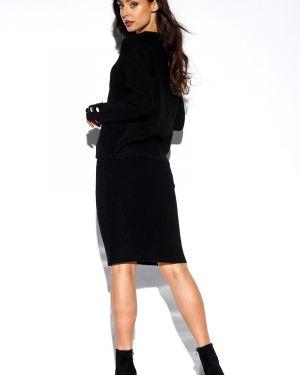 Ciepła czarna spódnica elegancka Lemoniade