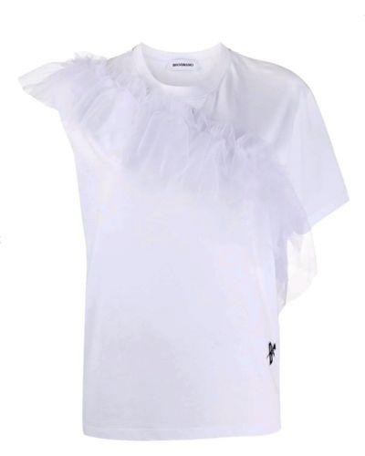 Biały t-shirt Brognano