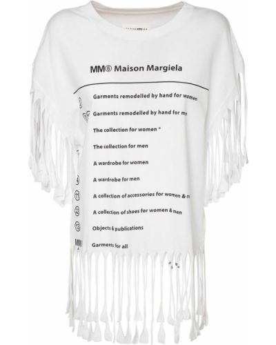 Biały t-shirt Mm6 Maison Margiela
