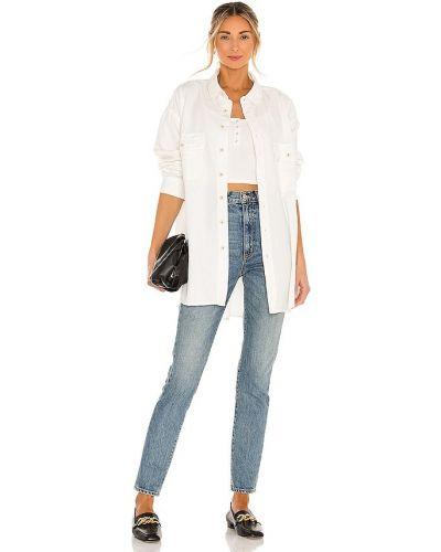 Biała koszula bawełniana zapinane na guziki Nsf