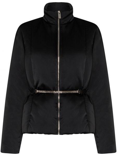 Черная длинная куртка с воротником из вискозы 1017 Alyx 9sm