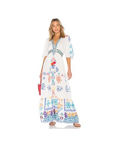 Платье с поясом с бисером на шнуровке Hemant And Nandita