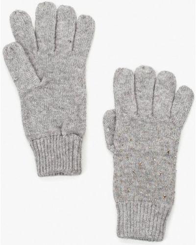 Серые перчатки текстильные Sela