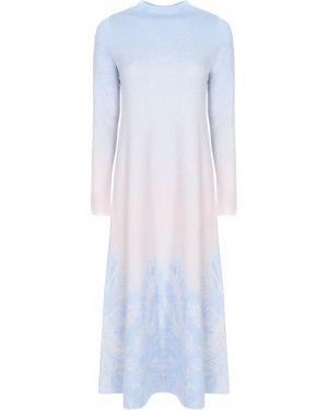 Платье миди с воротником с рисунком с длинными рукавами свободного кроя Free Age