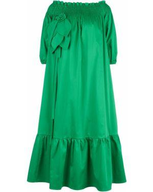 Платье с открытыми плечами длинное Shade