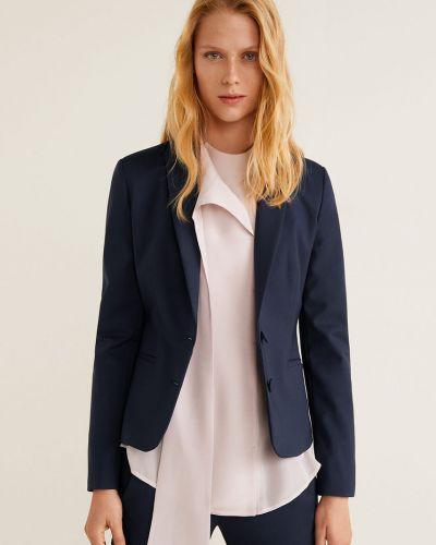 Классический пиджак узкий синий Mango