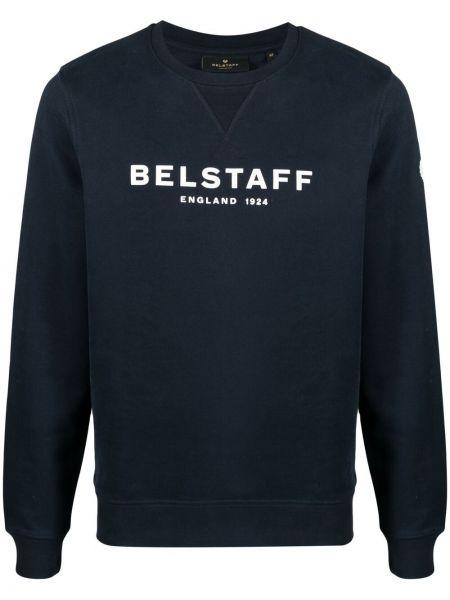 Niebieska bluza z długimi rękawami bawełniana Belstaff