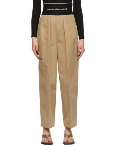 Czarne spodnie bawełniane Alexander Wang