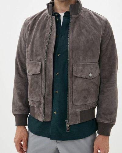 Кожаная куртка осенняя серая Tommy Hilfiger