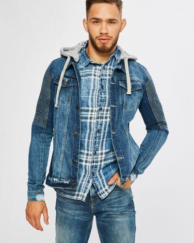 Джинсовая куртка с капюшоном укороченная Brave Soul