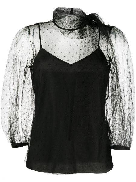 Czarna bluzka z siateczką Redvalentino