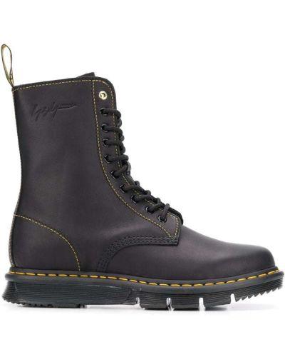 Кожаные ботинки на молнии черные Dr Martens
