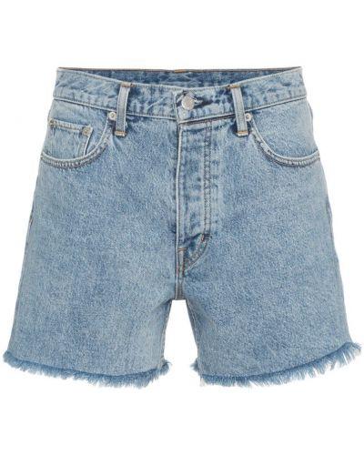 Джинсовые шорты с бахромой Helmut Lang