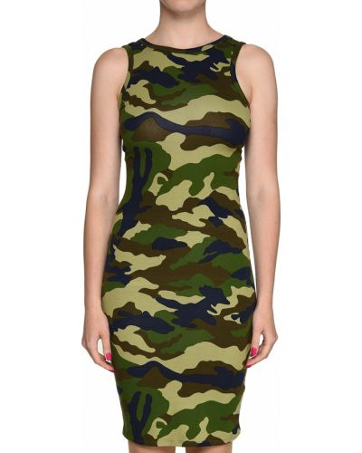 Хлопковое платье - зеленое Kendall + Kylie