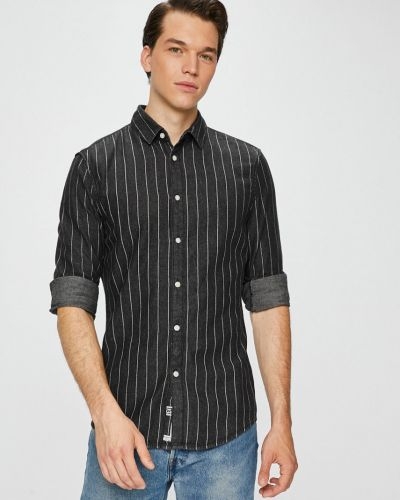 Рубашка с длинным рукавом в полоску хлопковая Review