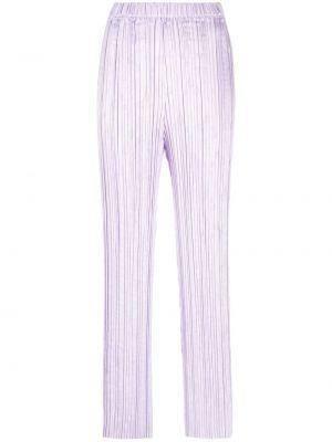Расклешенные фиолетовые брюки Forte Forte