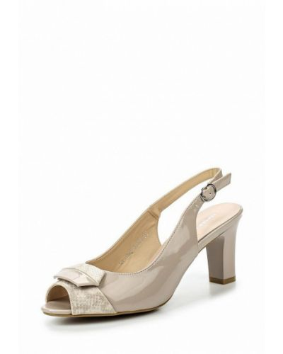 Босоножки на каблуке лаковые Zenden Woman