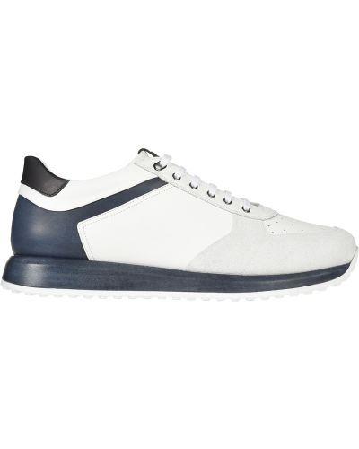 Кожаные кроссовки - белые Franceschetti
