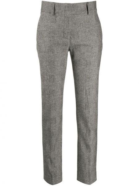 Брючные шерстяные черные укороченные брюки Piazza Sempione