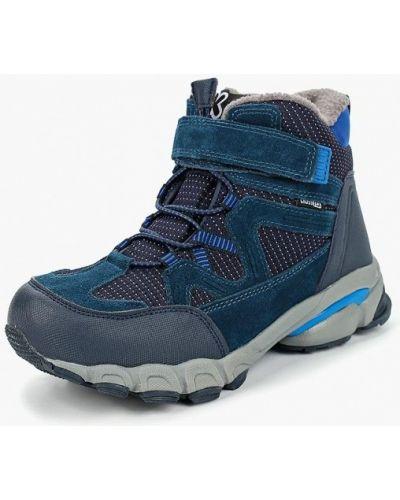Синие ботинки замшевые Kakadu
