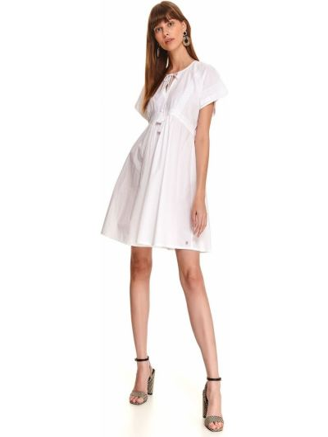 Sukienka materiałowa - biała Top Secret
