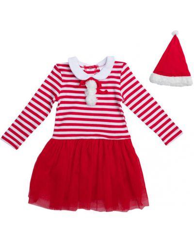 Платье хлопковое с принтом Playtoday Baby