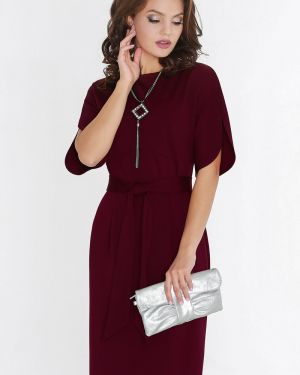 Платье с поясом платье-сарафан с цельнокроеным рукавом Dstrend