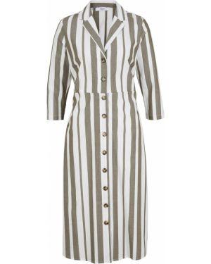 Платье макси в полоску платье-рубашка Bonprix