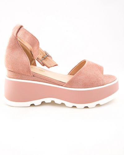 Текстильные розовые туфли Stefaniya Nina