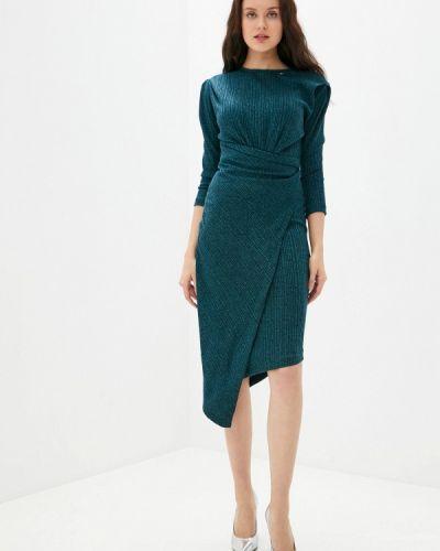 Трикотажное синее вязаное платье Rinascimento