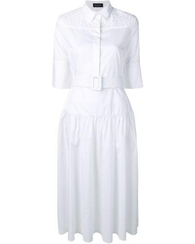 Платье рубашка - белое Piazza Sempione