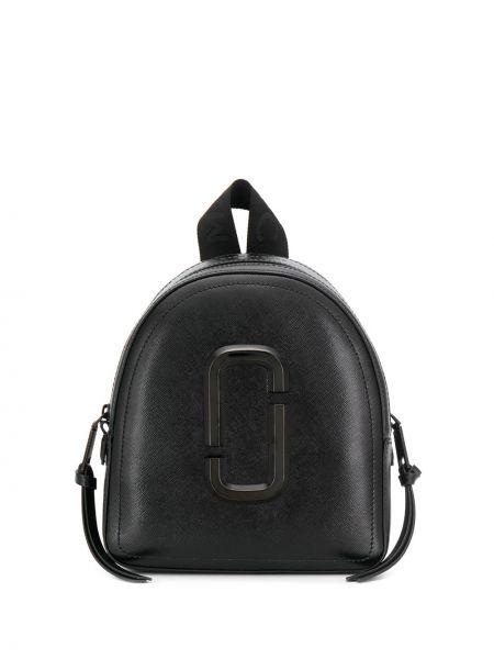 Skórzany plecak czarny wytłoczony Marc Jacobs