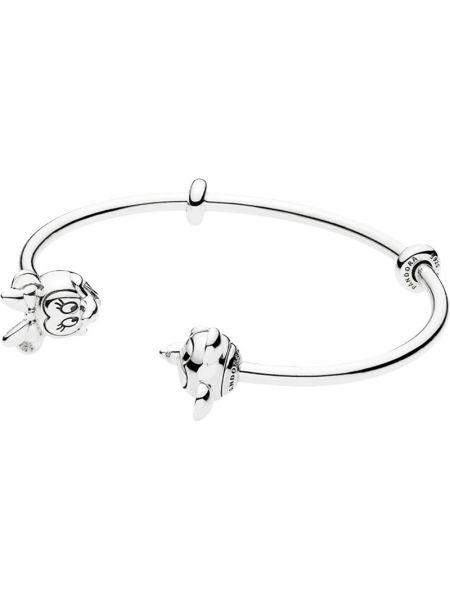 Микки маус открытый серебряный браслет с подвесками Pandora