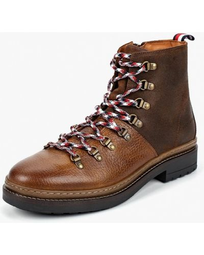 Ботинки осенние кожаные высокие Tommy Hilfiger
