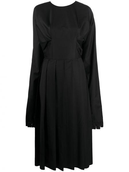 Шерстяное платье миди - черное Natasha Zinko