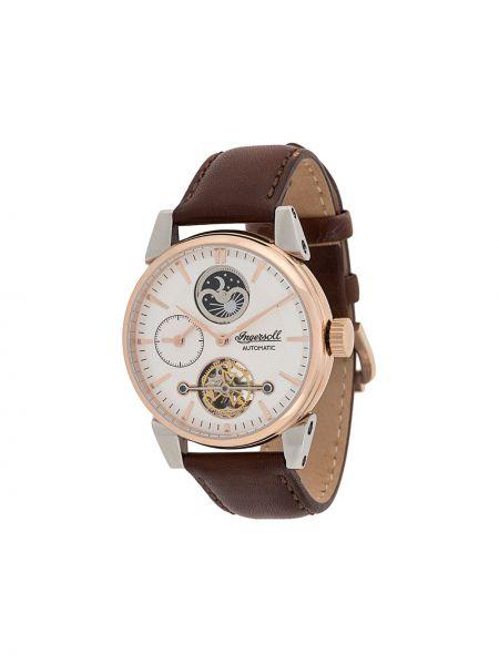 Zegarek na skórzanym pasku skórzany - szary Ingersoll Watches