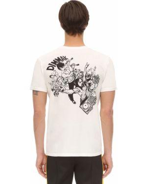 Biały t-shirt z printem Dim Mak Collection
