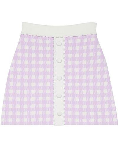 Фиолетовая юбка в клетку из вискозы Maje