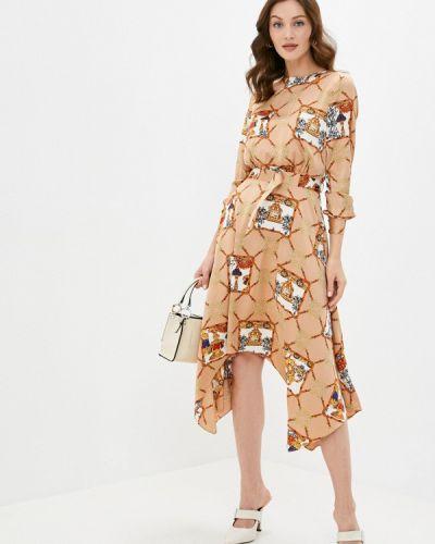 Прямое бежевое платье Cavo