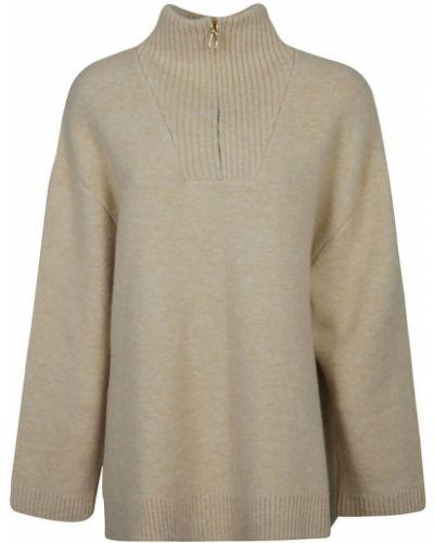 Beżowy sweter Nanushka