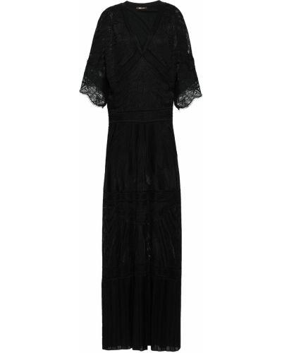 Кружевное платье макси - черное Roberto Cavalli