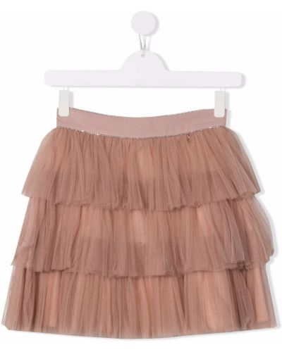 Spódniczka mini tiulowa - różowa Elisabetta Franchi La Mia Bambina