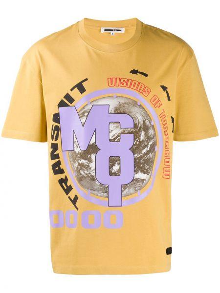 Koszula krótkie z krótkim rękawem z nadrukiem z logo Mcq Alexander Mcqueen