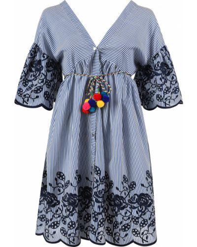 Хлопковое платье - синее Fracomina
