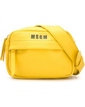 Сумка желтый с заплатками Msgm Kids