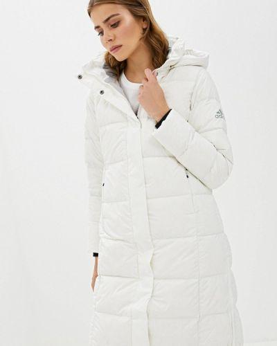 Куртка осенняя белая Adidas