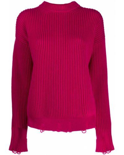 Джемпер в рубчик розовый Nina Ricci