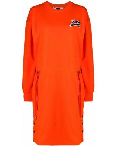 Платье макси с длинными рукавами - оранжевое Boss Hugo Boss