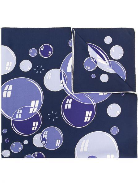 Синий шарф Hermès Pre-owned