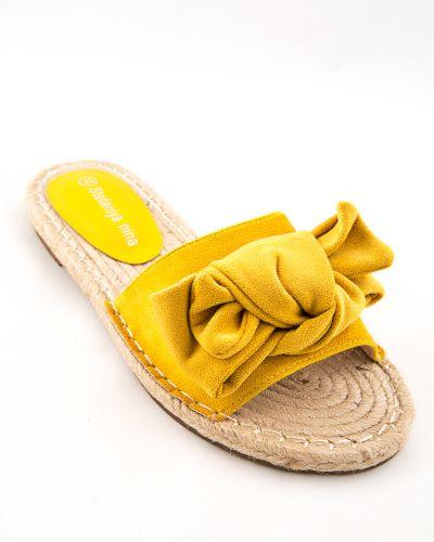 Текстильные желтые туфли Stefaniya Nina